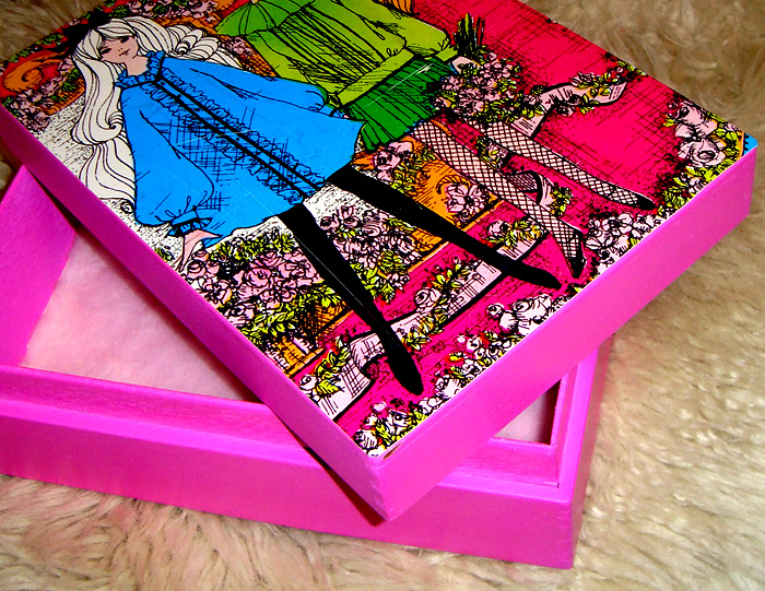 Upcycled 60s Barbie Box