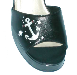 Tattoo Style Anchor Shoes