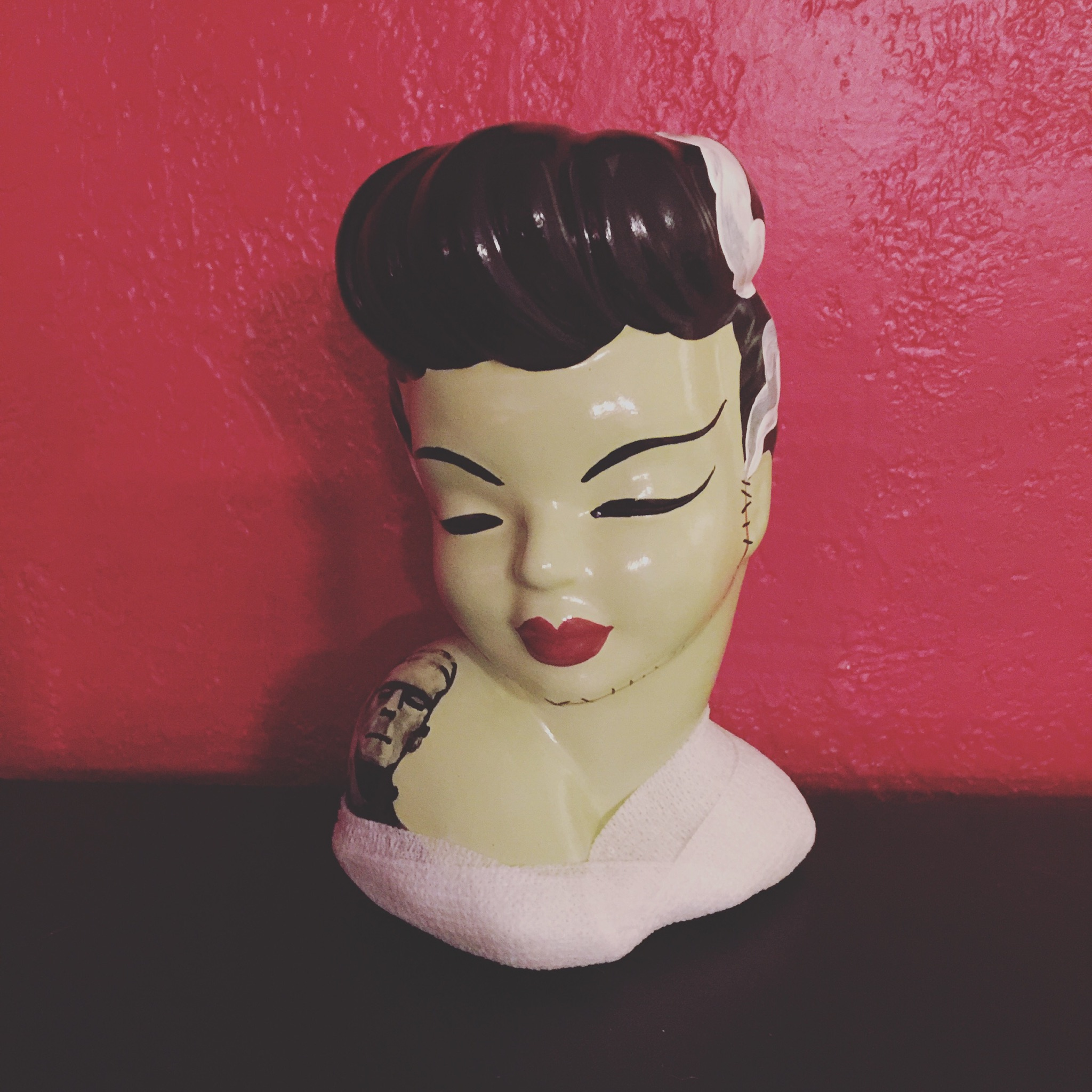 Bride Of Frankenstein Headvase By Erin Tinney