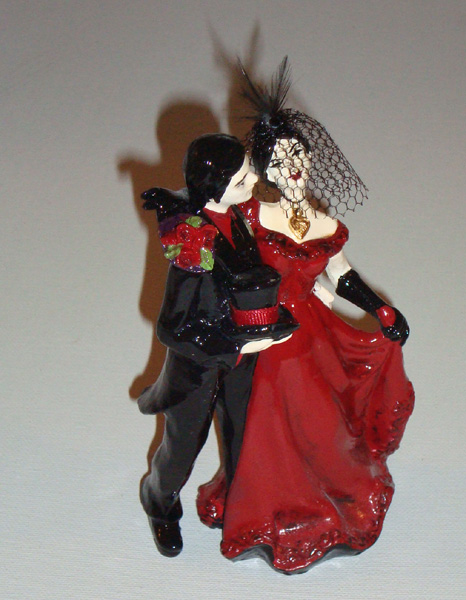ReVamped Gothic Wedding Cake Topper By Erin Tinney