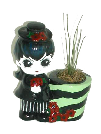 ReVamped Little Goth Girl Statue