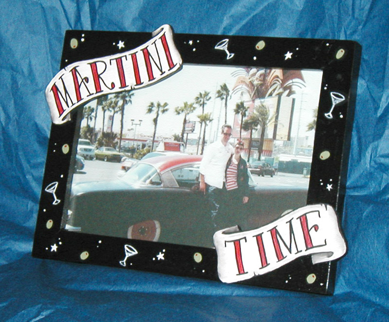 3 Dimensional Martini Time Picture Frame