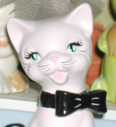 ReVamped Pink Kitty Statue