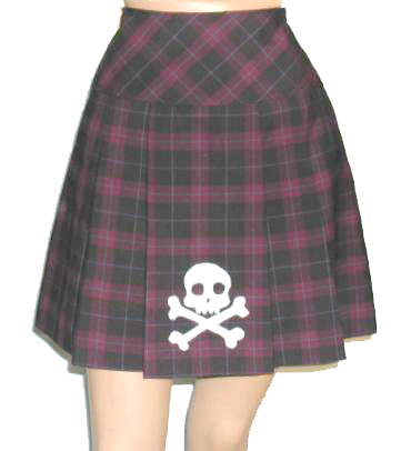 Plaid Skull Skirt