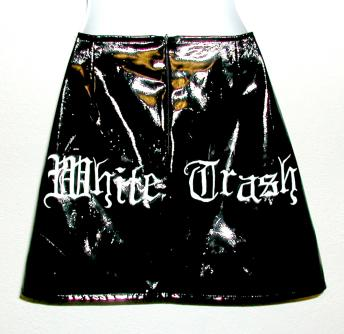 WHITE TRASH PAINTED SKIRT