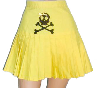 Yellow Skull Skirt