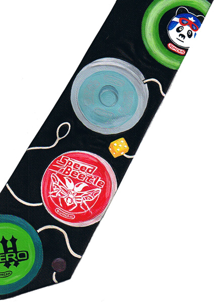 Custom Painted YoYo Tie